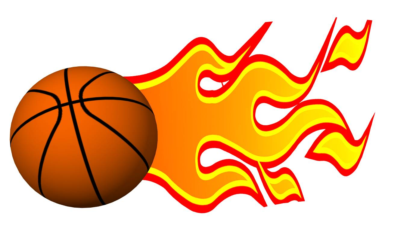 basketball with flames coloring pages - photo#31